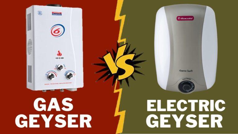 gas vs electric geyser